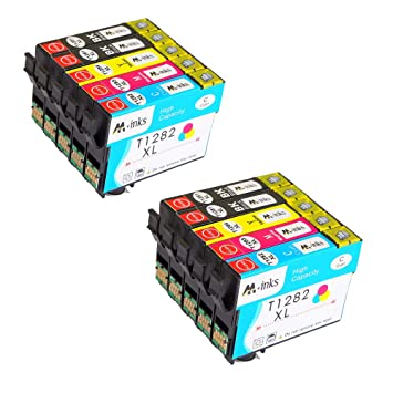AA+ 10 Paquete Reemplazo para Epson T128 T1281 T1282 T1283 ...