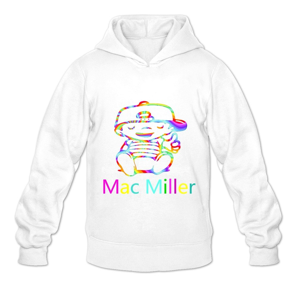 Men's Mac Miller Street Hoodies Sweatshirt Size US Black NEOLBOOS