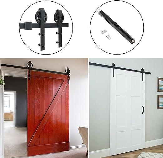 Hahaemall - Kit de herramientas para puerta corredera con amortiguador de cierre suave para interior moderno de 4 – 14 pies: Amazon.es: Bricolaje y herramientas