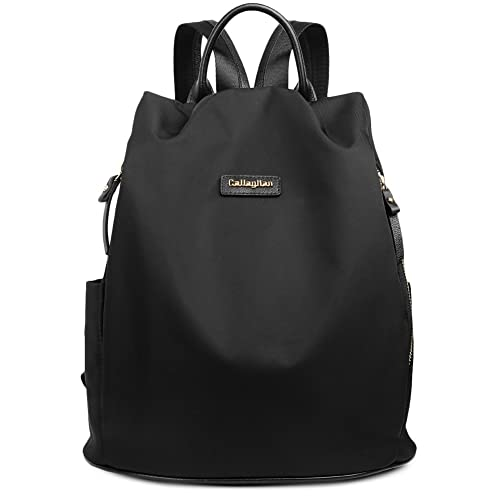 CALLAGHAN Canvas Backpack Purse Travel Water Resistant Small Lightweight School Backpacks for Women