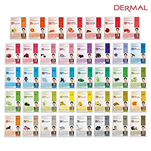 Dermal Korea Collagen Essence Full Face Facial Mask Sheet 39 Combo Pack