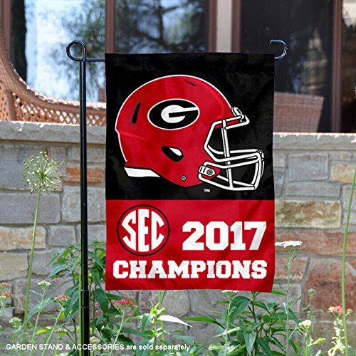 College Flags and Banners Co. Georgia Bulldogs 2017 SEC Foot