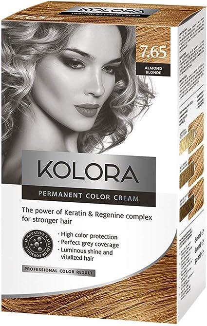 AROMA tinte para cabello 7.65 Kolora Almendra Rubio 60 ml1 ...