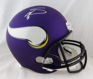 Amazon.com  Stefon Diggs Autographed Minn Vikings Full Size Helmet- JSA W  Auth White  Sports Collectibles b99c2603e