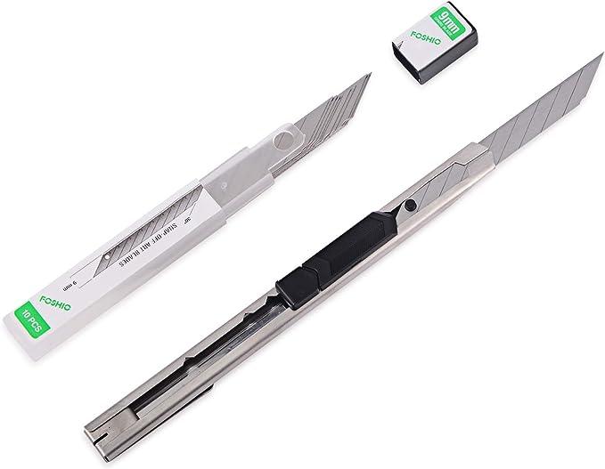 FOSHIO 3pcs Cúter de Cuchillas profesional con 30pcs Cuchillas ...