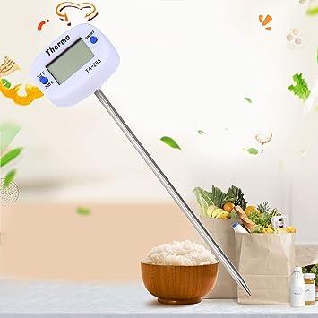 Togames Hogar Cocina Digital Sonda para Alimentos Carne Cocina Cocina BBQ Sensor Term/ómetro Equipo de medici/ón de Alimentos Blanco