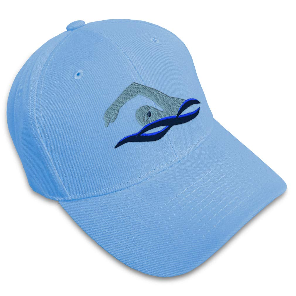 Custom Baseball Cap Swimmer B Embroidery Dad Hats for Men /& Women Strap Closure