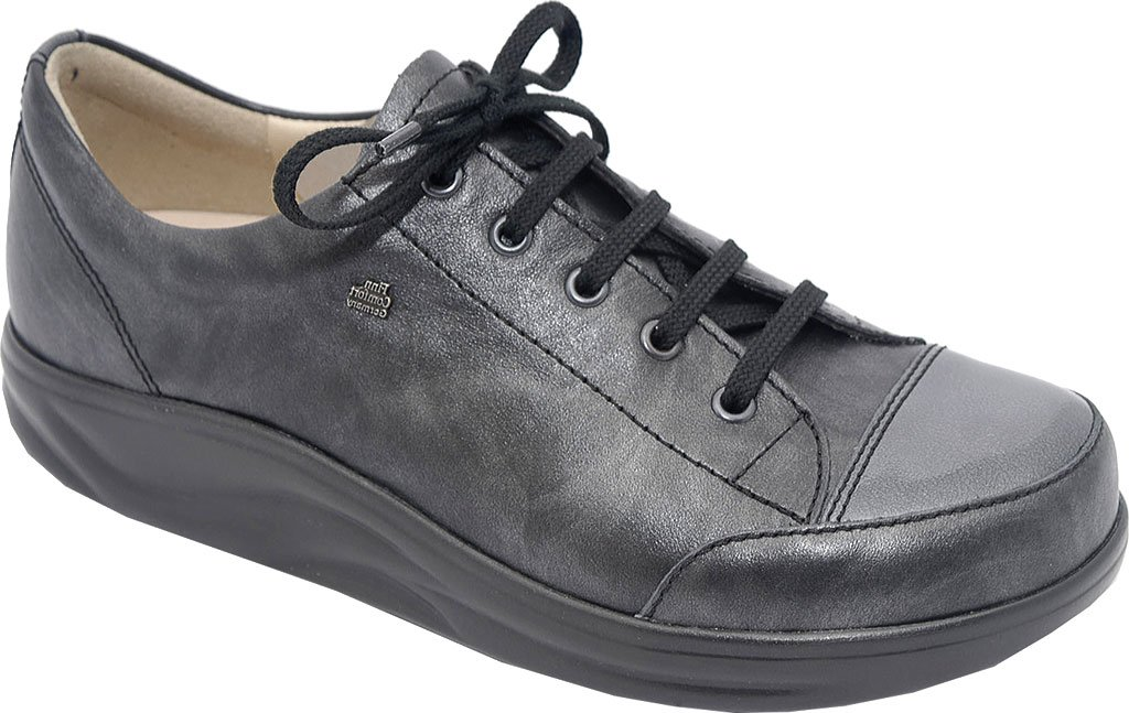 Finn Comfort Women's Ikebukuro Oxford B01CKFOD78 8.5 (UK Women's 6) Medium|Negro/stone Oxide/patent