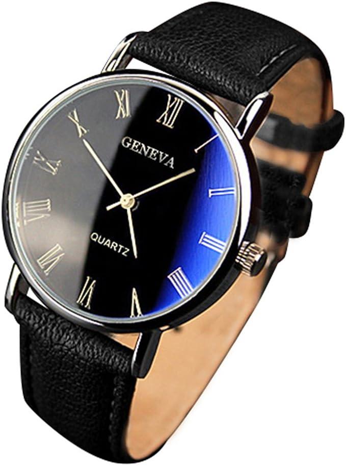 Reloj de pulsera analógico de cuarzo con números romanos, de ...