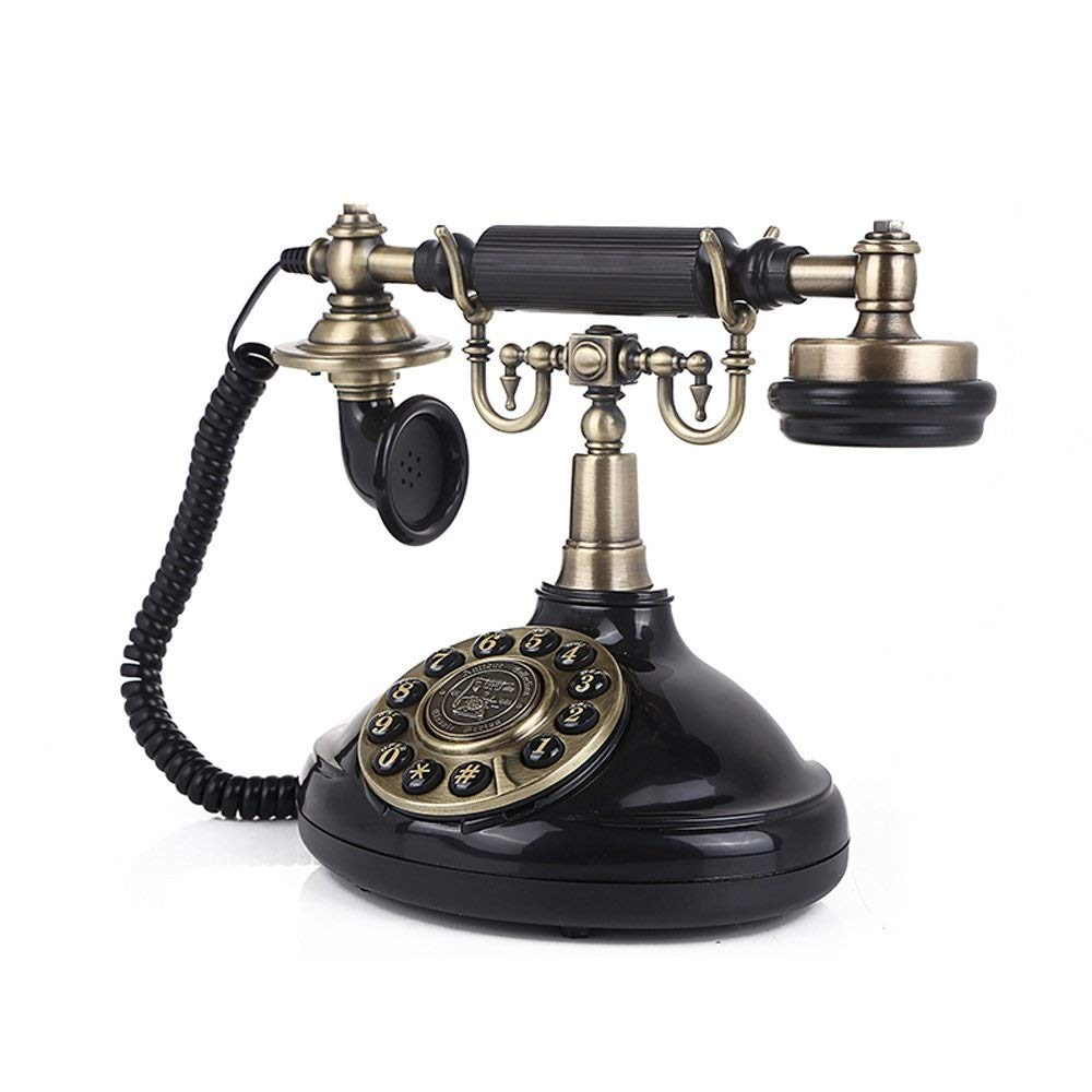 XHMCDZ アンティーク電話ヴィンテージ60年代ファッションコード付きダイヤル電話セットレトロファッションクリエイティブホームアクセサリーの装飾 B07Q4PQ1LR