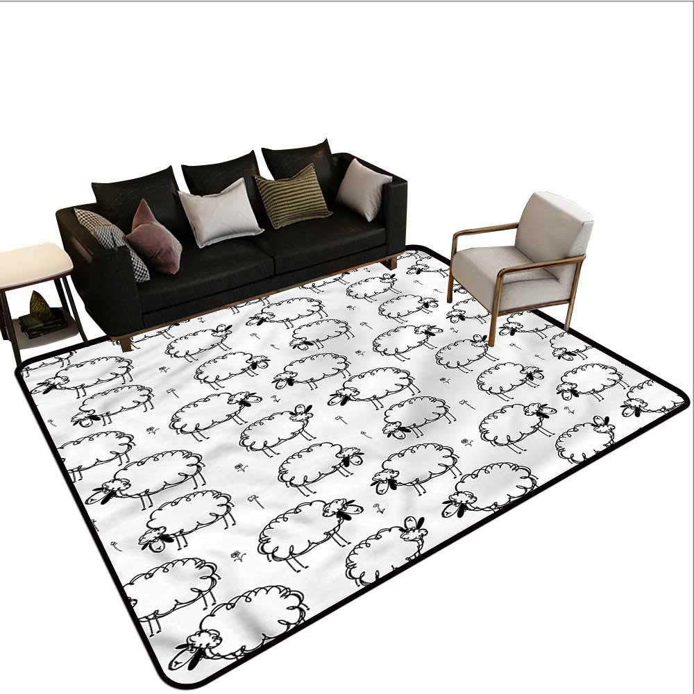 "Funny,Bath Mat Set Kitchen Door 64""x 96"" Funny Sheeps on a Meadow Office Floor mats 61YQ947dirL._SL1000_"