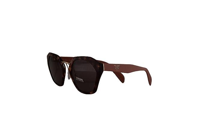 Womens 0PR52US C135R0 Sunglasses, Silver/Pink Havana/Brown/Gradlightblueemirrorsilver, 37 Prada