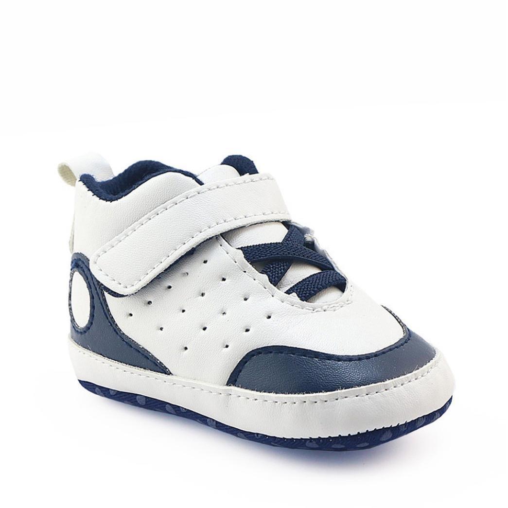 Pour 0-18 mois chaussures de bébé, Amlaiworld Garçons enfants filles Chaussures de berceau Semelle molle Espadrilles anti-dérapantes (11/0-6m, Blanc)