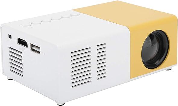 Opinión sobre ASHATA Proyector LED, Mini proyector portátil Reproductor Multimedia de Video de Cine en casa LED Proyector con Rack, 1080p Proyector de Cine Familiar en casa 100‑240V(Amarillo)