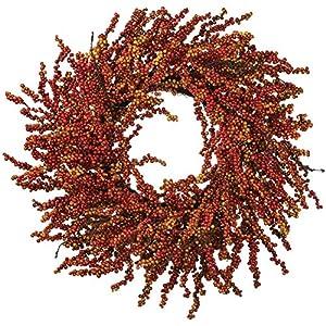 27 Inch Fall Berry Wreath on Twig Base 1