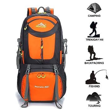 Gohyo Mochila de Viaje 50L Senderismo Ligera Impermeable para Marcha Trekking Camping Montaña Escalada Orange: Amazon.es: Deportes y aire libre