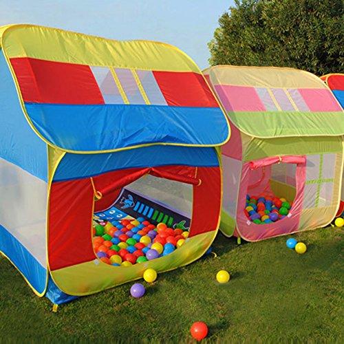 Vktech¨ Kids Play Hut Outdoor Indoor Fun Play Big Tent Playhouse Pop Hut Play Pit Balls Pool