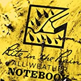"Rite in the Rain Weatherproof Side Spiral Notebook, 4.625"" x 7"", Yellow Cover, Universal Pattern, 3 Pack (No. 373L3)"
