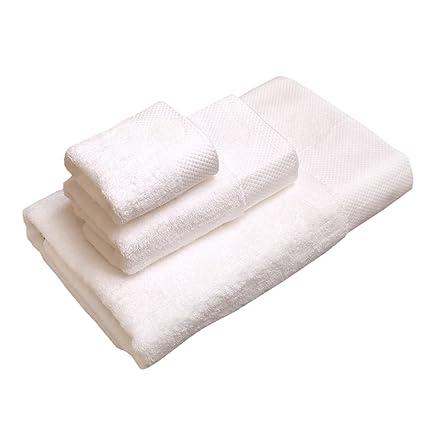 Asoon Juego de toallas de algodón 100%, 1 toalla de baño y 1 toalla