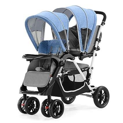 XUE - Carrito Doble para bebé con Ruedas Delanteras y traseras, con Pedales con Sistema