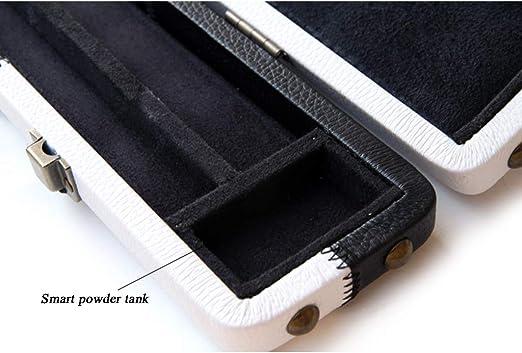 LWXTY PU de Cuero de imitación Cue Case, 3/4 articulado Cuadro de Snooker Club con Tiza Compartimiento, Tiene 1 Cue,Black and White_120.5cm/47.5inch: Amazon.es: Hogar