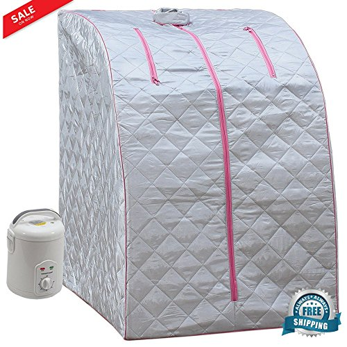 Portable Sauna Home Steam Spa with Timer Full Body Loss Weight Detox Therapy Slim Remove Toxin Reduce Stress Fatigue Indoor Home $ eBook by BADA shop by BS