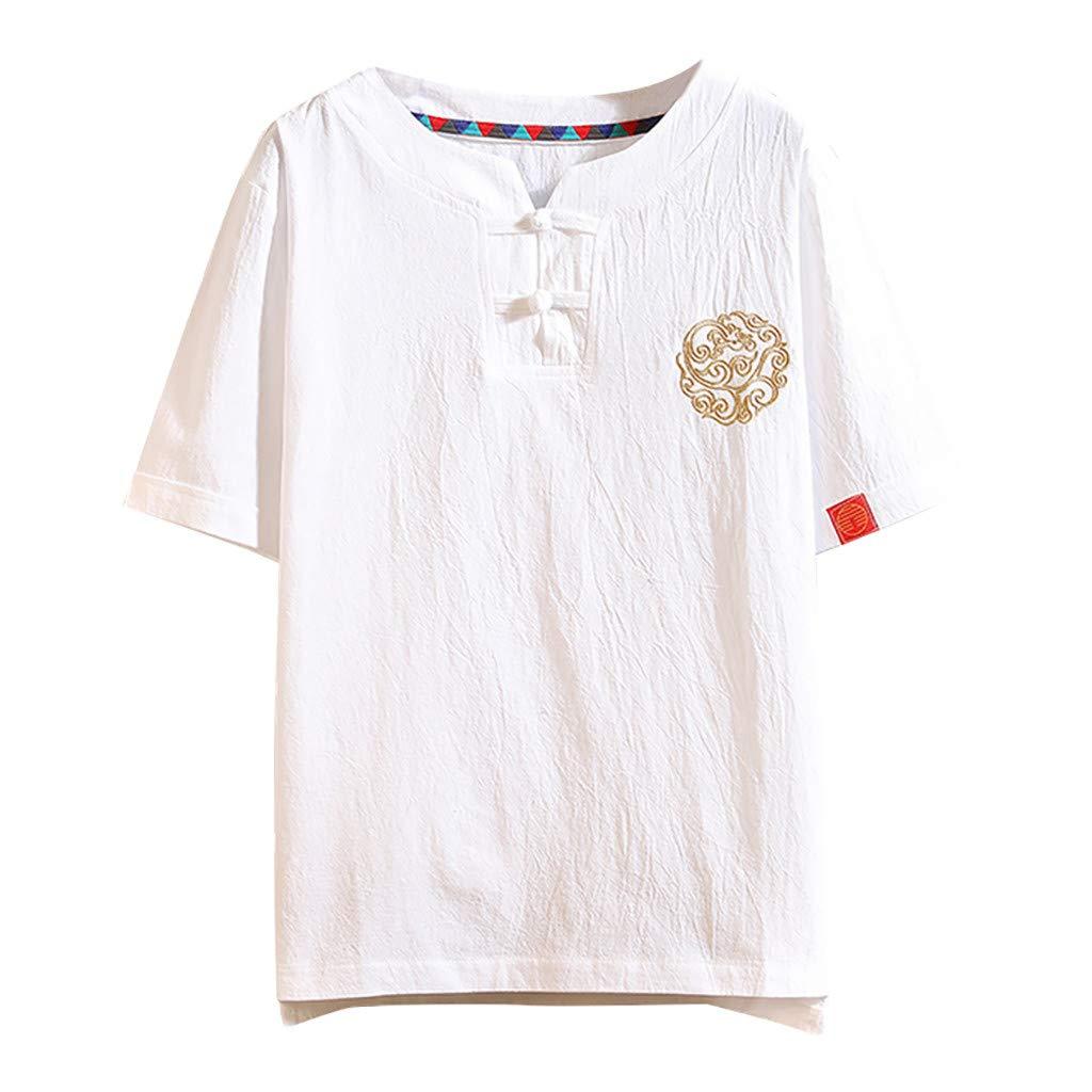 JYJM - Camisa de Manga Corta para Hombre, de Manga Corta Blanco XL ...