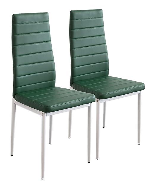 264 opinioni per Albatros 2870 MILANO- Set di 2 sedie da pranzo, verde