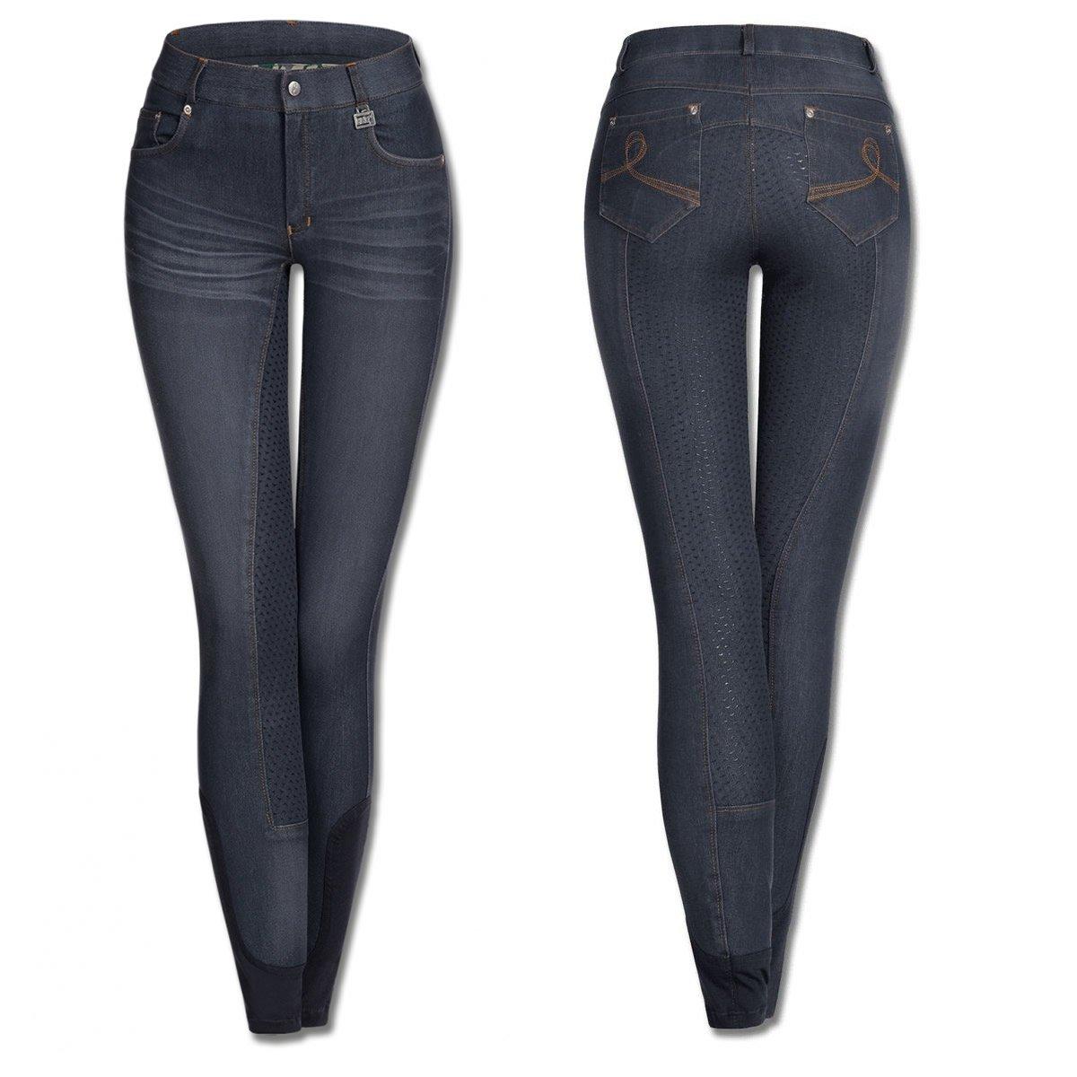 Waldhausen Elt–Pantaloni jeans da equitazione Hope, blu notte W-CU-32133LA