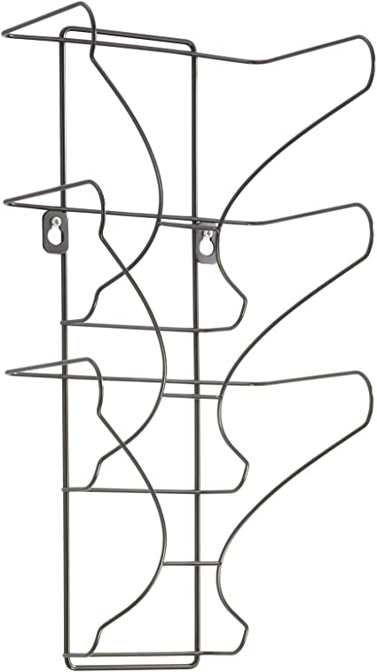 Black 3 Pocket Safco Products 6430BL Wire Wall Display