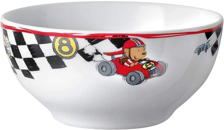 Puresigns Kindergeschirr Kinderbesteck Set 7-teilig QUICK Rennfahrer Rennauto