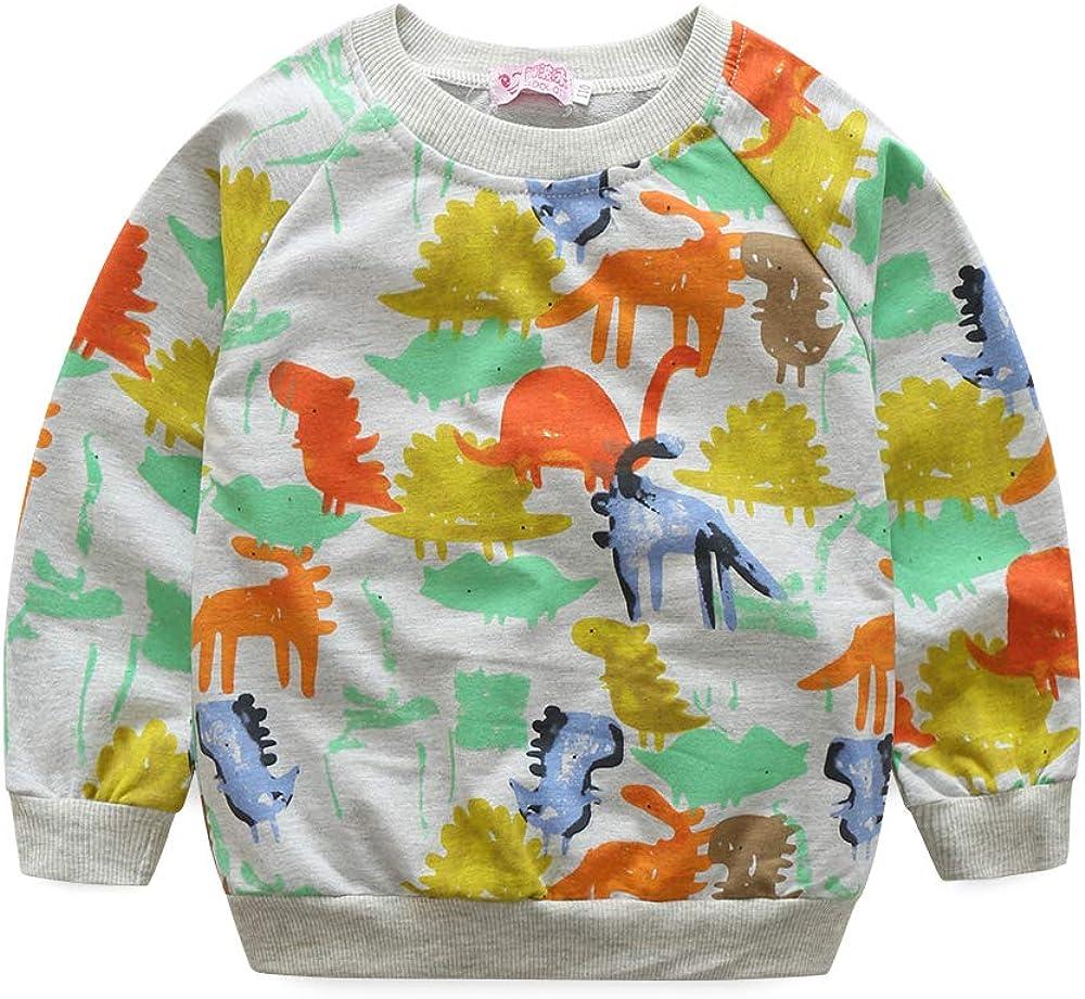Kimocat 2Pcs Baby Clothing Outfits Set Long Sleeve Print Tops Pants