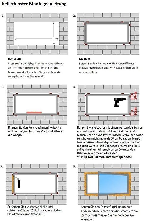 innen wei/ß//au/ßen mahagoni Kellerfenster BxH: 70 x 40 cm 3 fach Verglasung Kunststoff DIN Links 700 x 400 mm Fenster 60 mm Profil