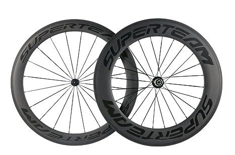 Superteam llantas ruedas de carbono 700 C Clincher ruedas para bicicleta frontal 60 mm rear88 carretera
