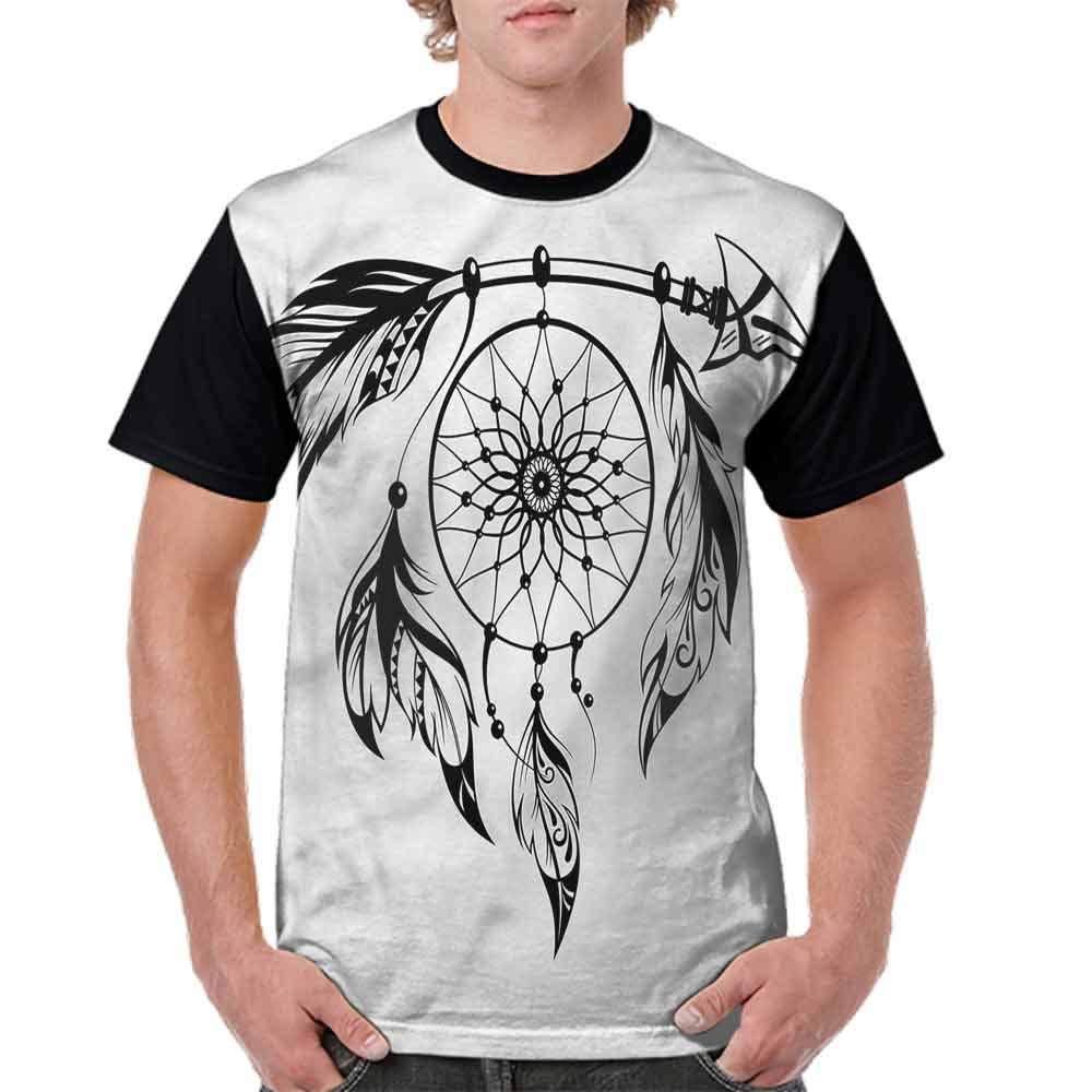 Fashion T-Shirt,Hand Drawn Dreamcatcher Fashion Personality Customization