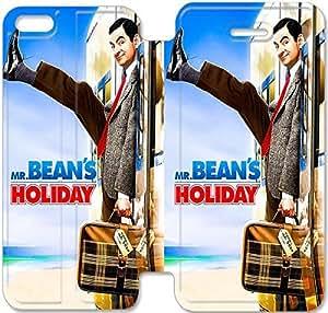 iPhone 5c Funda, GIORNNHUG4484 iPhone 5c Flip Funda, Lujo Manera Cuero PU Flip Funda cubierta para iPhone 5c (Mr Bean)