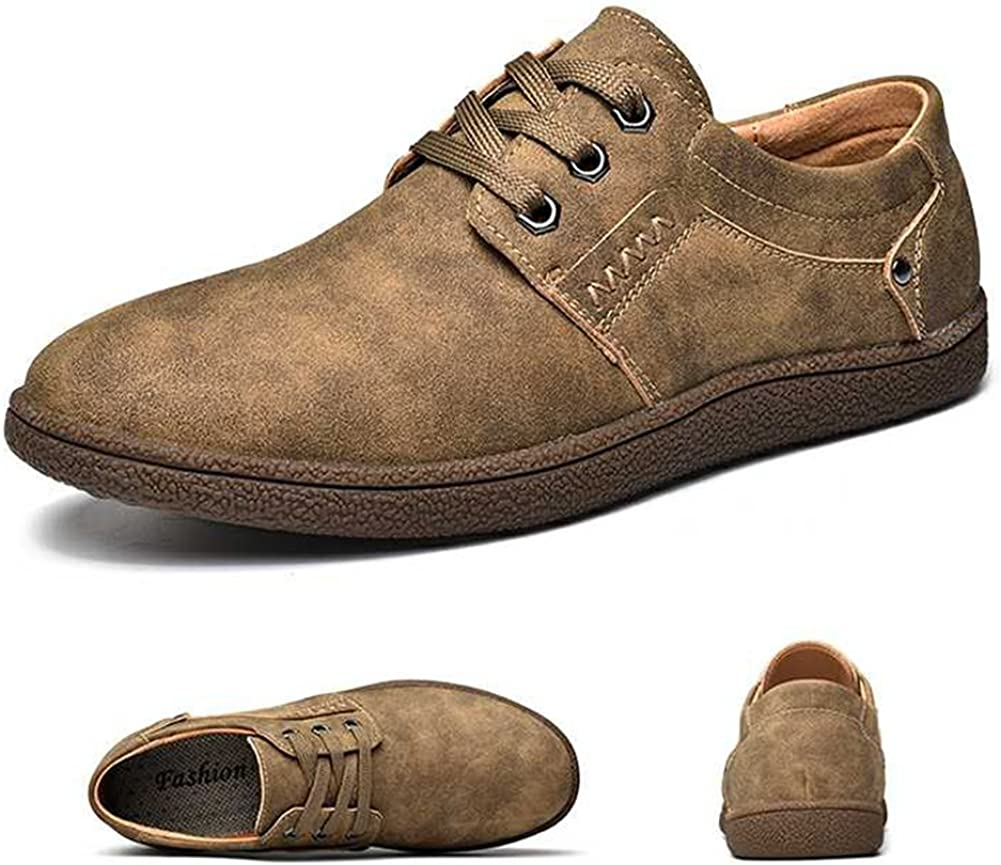 SYH Mens Classical Oxford Casual Shoes Formal Modern Lace up Work Shoes