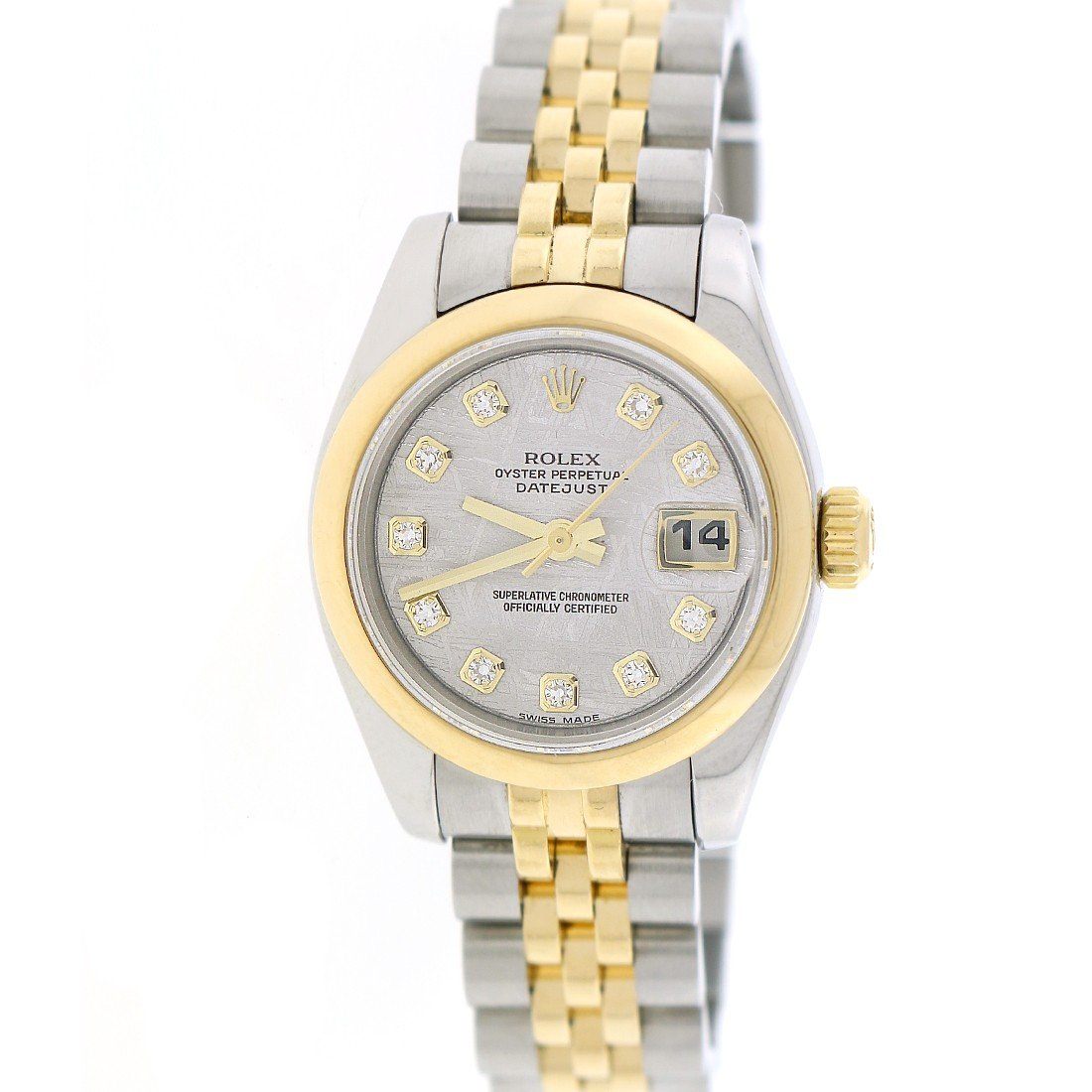 New Style Rolex Datejust Factory Meteorite Diamond 2-Tone Gold & Steel 26MM Watch 179163