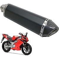 Silenciador Moto 51MM,KKmoon Silenciador Escape Moto 38-51mm 47cm