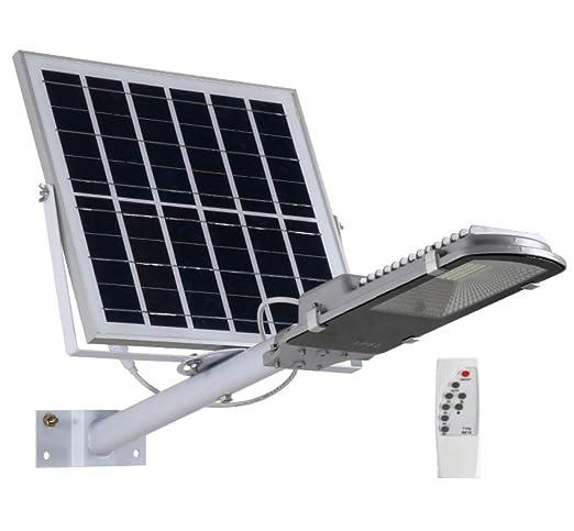 JiesenAN Proyector Solar LED, 30w Luz De Calle Al Aire Libre ...