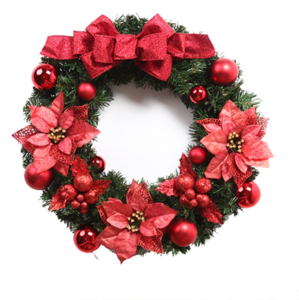 XUEXIN Christmas decorations Christmas Wreath Christmas wreaths Hotel ornaments ornaments ornaments , 60cm red