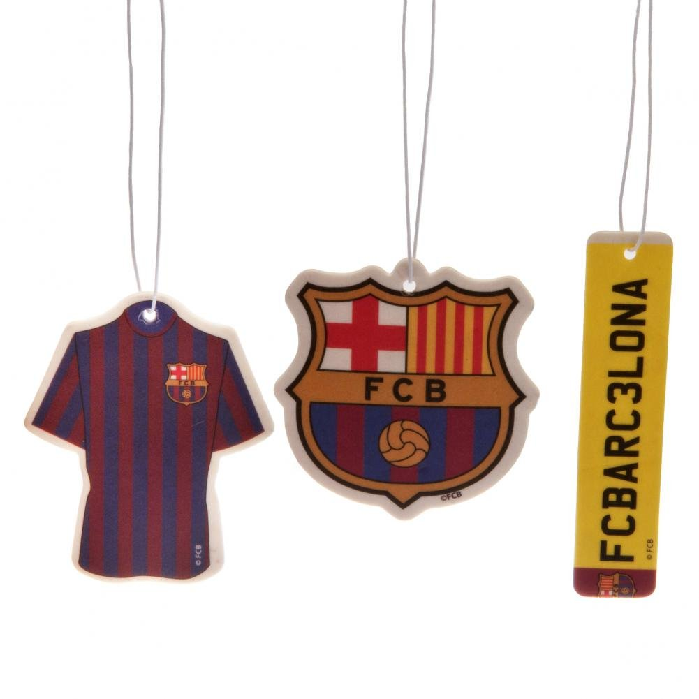 FC Barcelona Air Fresheners (Pack Of 3) (One Size) (Multicolored)