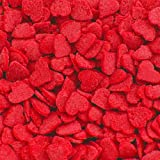 Natural Valentine Red Confetti Hearts cake decorations cupcake toppers
