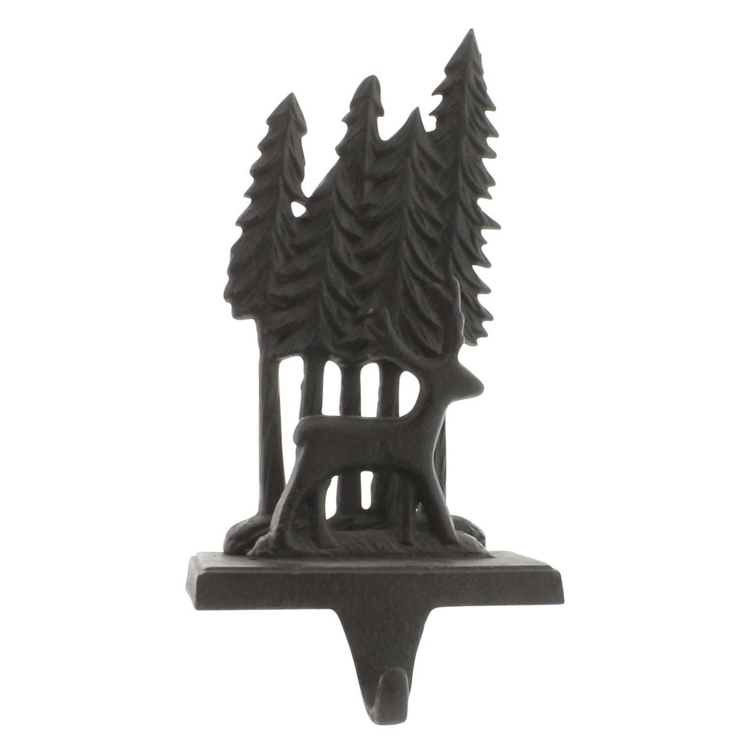 Deer and Woods Stocking Holder - Cast Iron