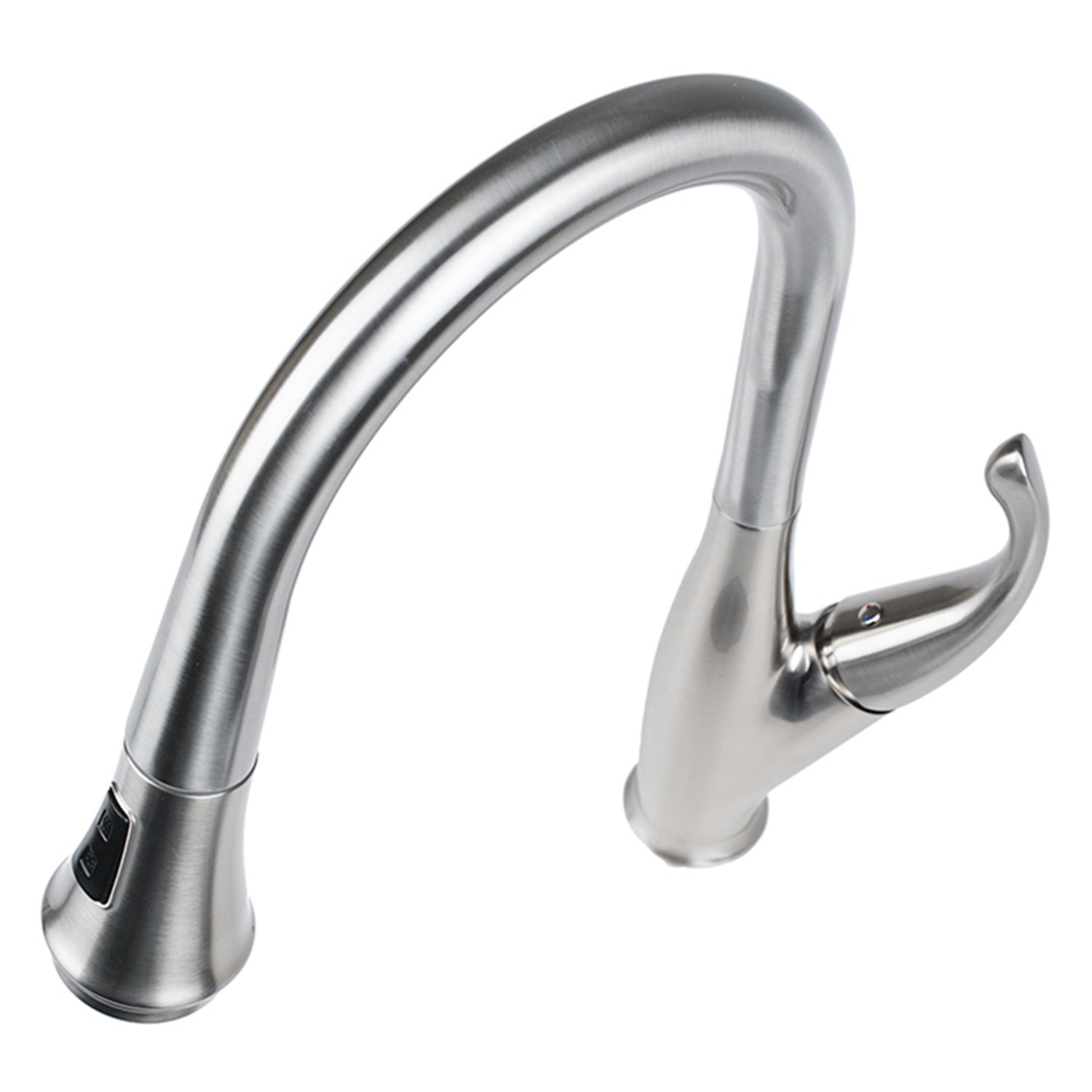 Cosmo COS-KF548SS Modern Luxury High Arc Pull-Down Tap Mixer Kitchen Faucet, Brushed Nickel by Cosmo (Image #3)