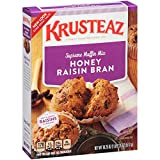 Krusteaz Honey Raisin Bran Supreme Muffin Mix, 18.25-Ounce Boxes (Pack of 12)