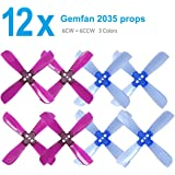 3 Sets Gemfan 2035 Props 4 Blades PC Propeller 1.5mm Mounting Hole CW CCW for 0806/1103/1104 Motor 80-110 FPV Racing Frame