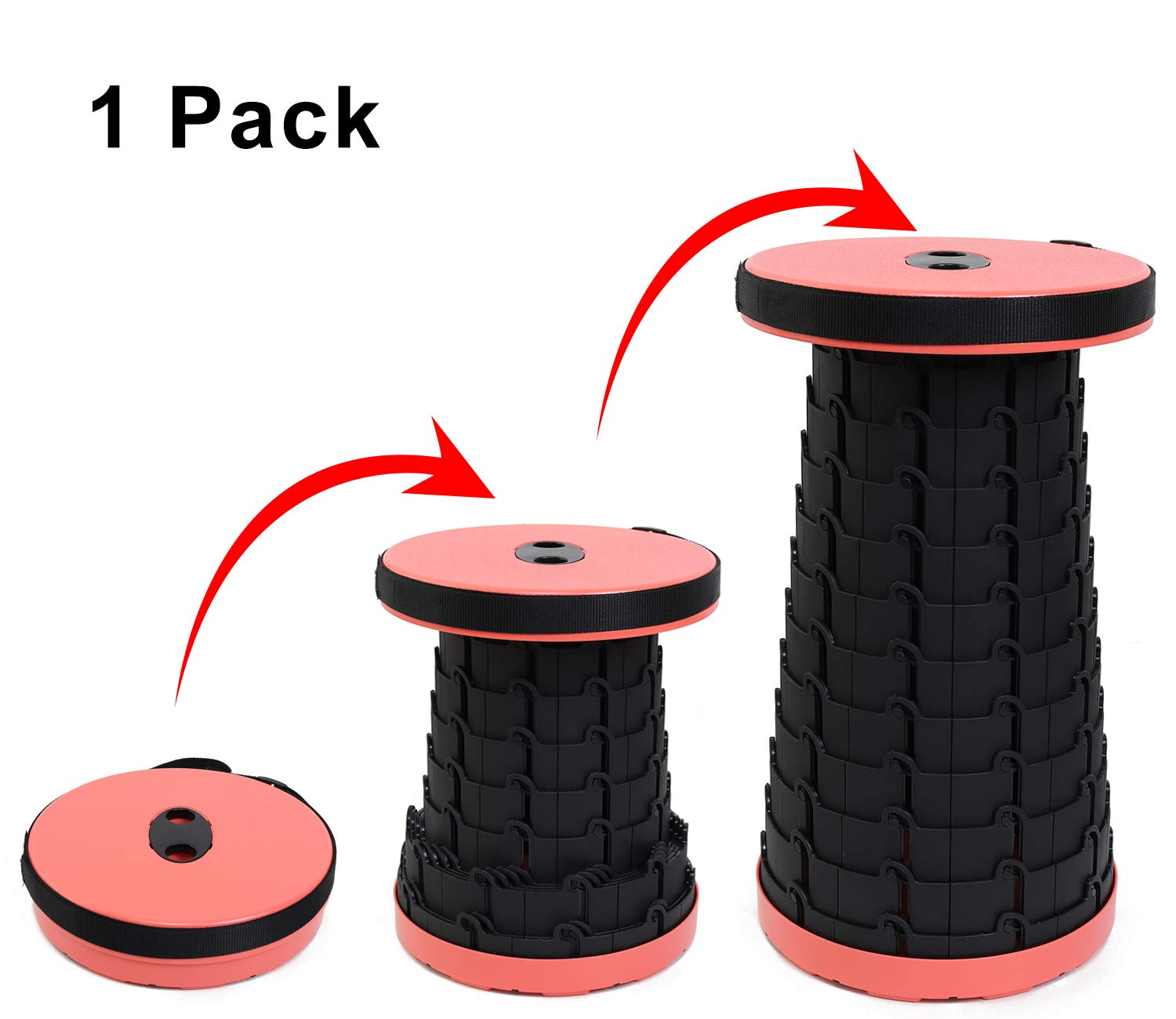 Retractable Stool Premium Lightweight Collapsible Stools for Fishing BBQ Outdoor Travel Hiking Procener Portable Folding Stools for Camping