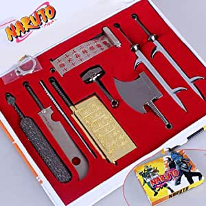Anime Naruto Cosplay Model Metal Sword Knife 9pcs/set ANPD339