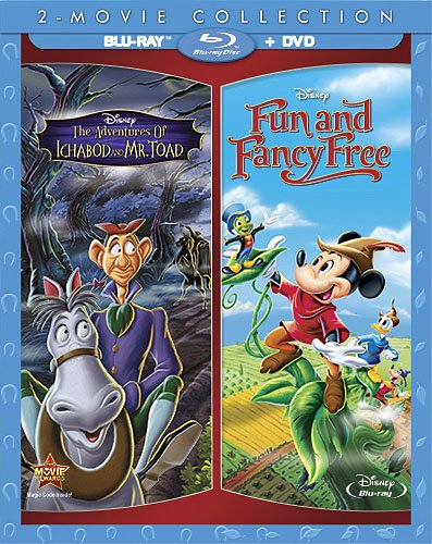 Blu-ray : The Adventures of Ichabod and Mr. Toad / Fun and Fancy Free (With DVD, , Digital Theater System, AC-3, Dolby)